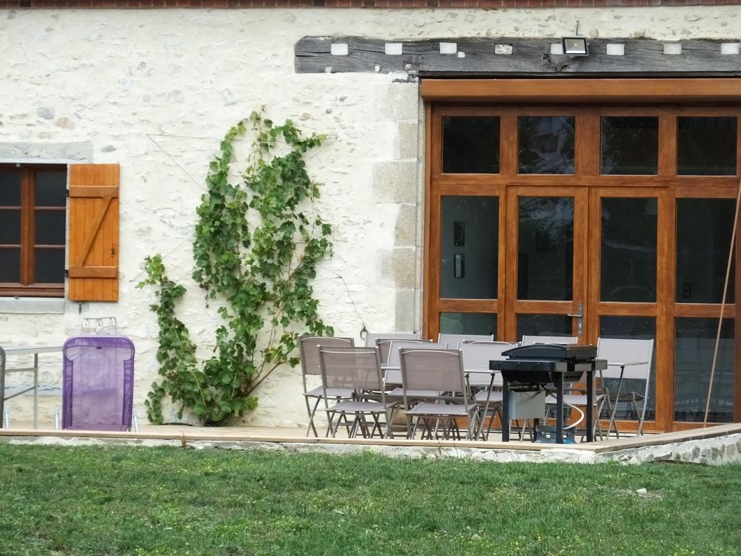Gîte de 12 personnes en Creuse - Terrasse