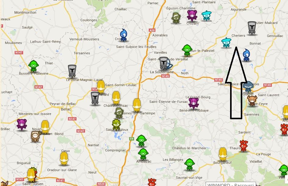 Gîte de 12 personnes en Creuse - Terra aventura carte